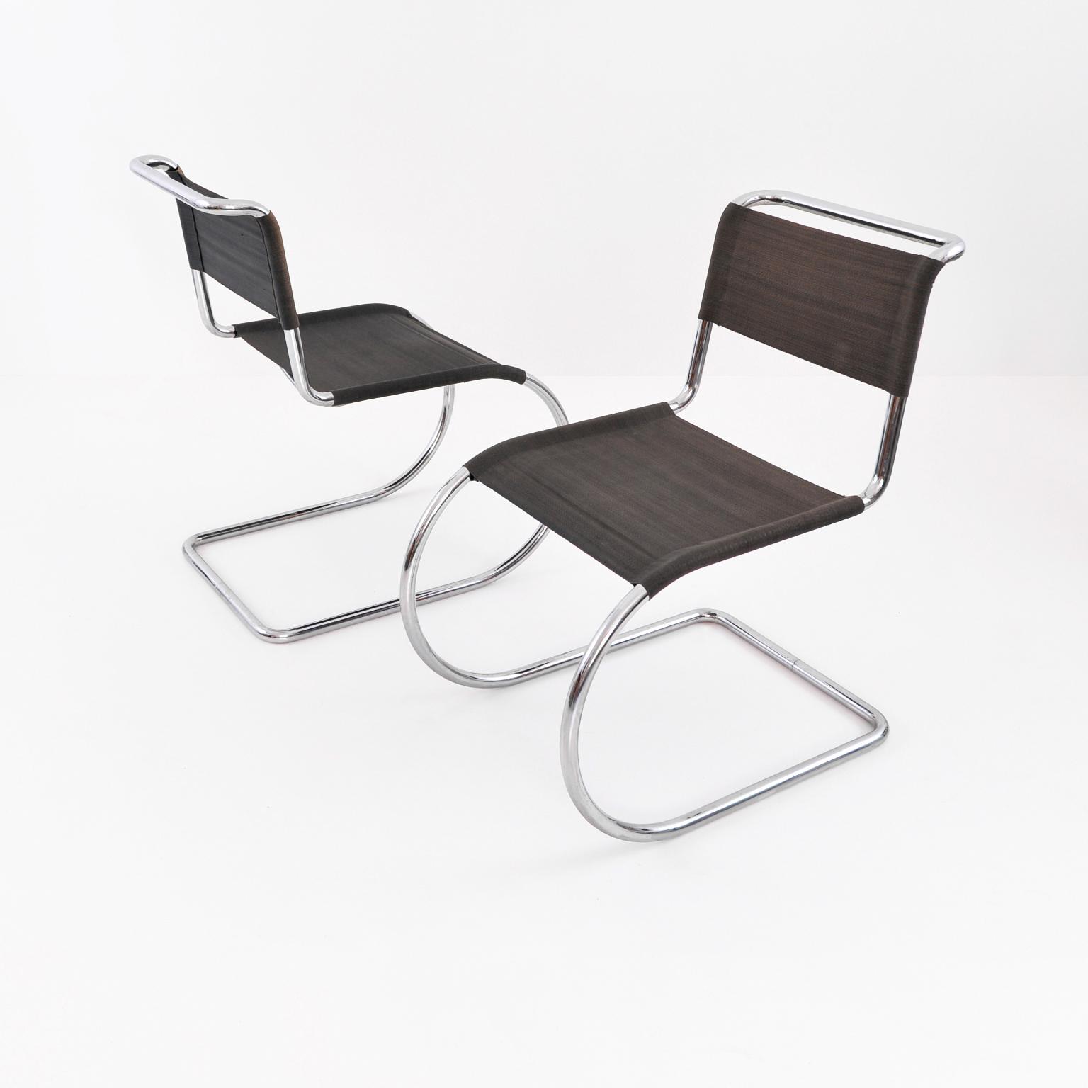 Modern Xx Ludwig Mies Van Der Rohe Stahlrohr Freischwinger Stuhl